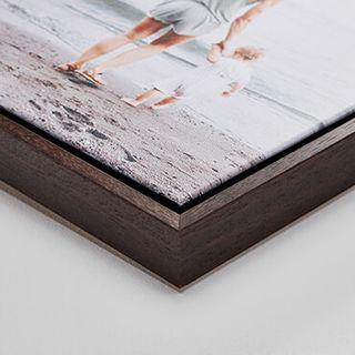 """Espresso wood frame, 1.25"""" deep."""