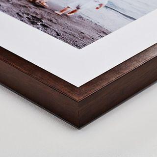 Espresso wood frame, 6 cm mat.