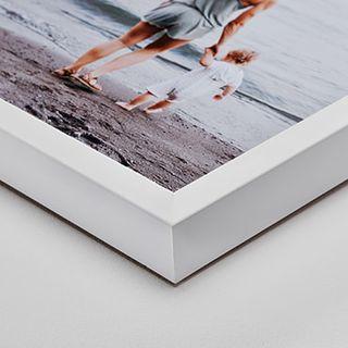 White wood frame, 4 cm deep.