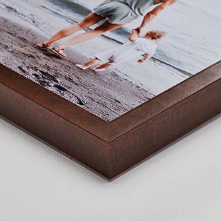 Espresso wood frame, 4 cm deep.