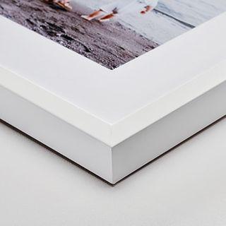 White wood frame, 6 cm mat.