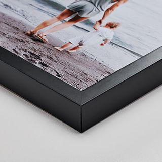 Black wood frame, 4 cm deep.