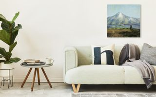 Beautiful art gallery wall with various framed prints and canvas prints.